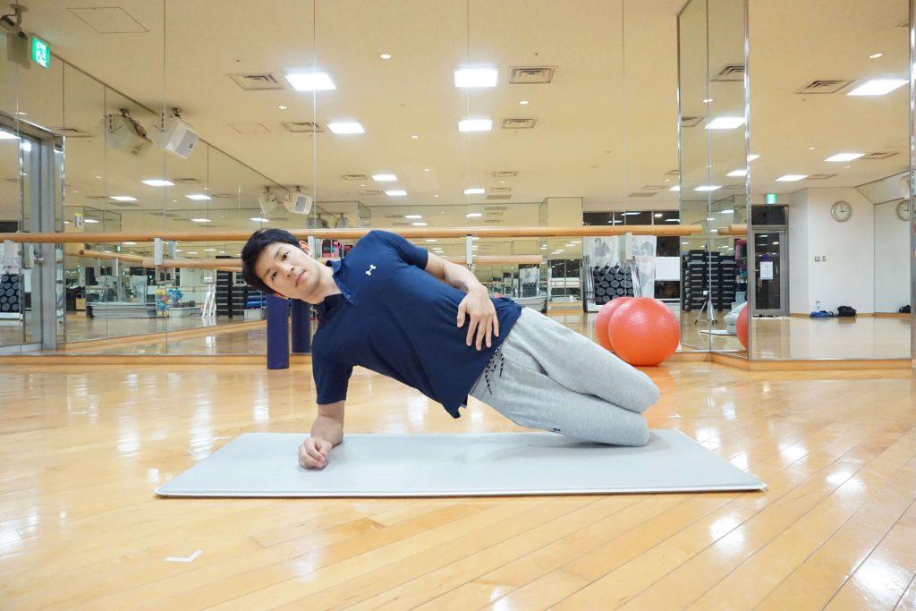 体幹トレーニング,サイドプランク,Fin