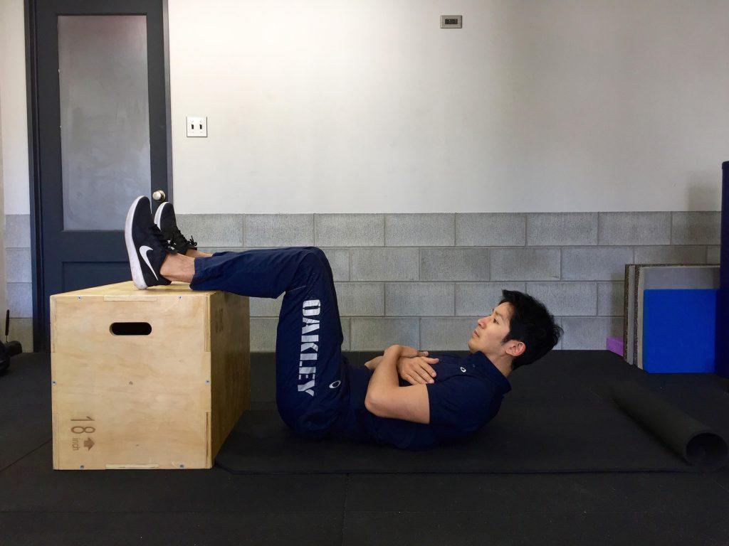 体幹トレーニング, クランチ,fin