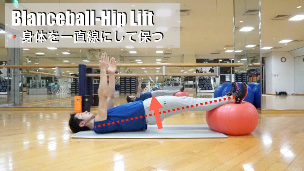 バランスボール,体幹トレーニング,ヒップリフト,fin