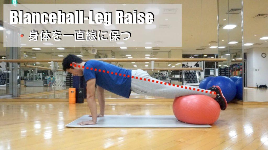 ゴルフ,体幹トレーニング,バランスボール,レッグレイズ