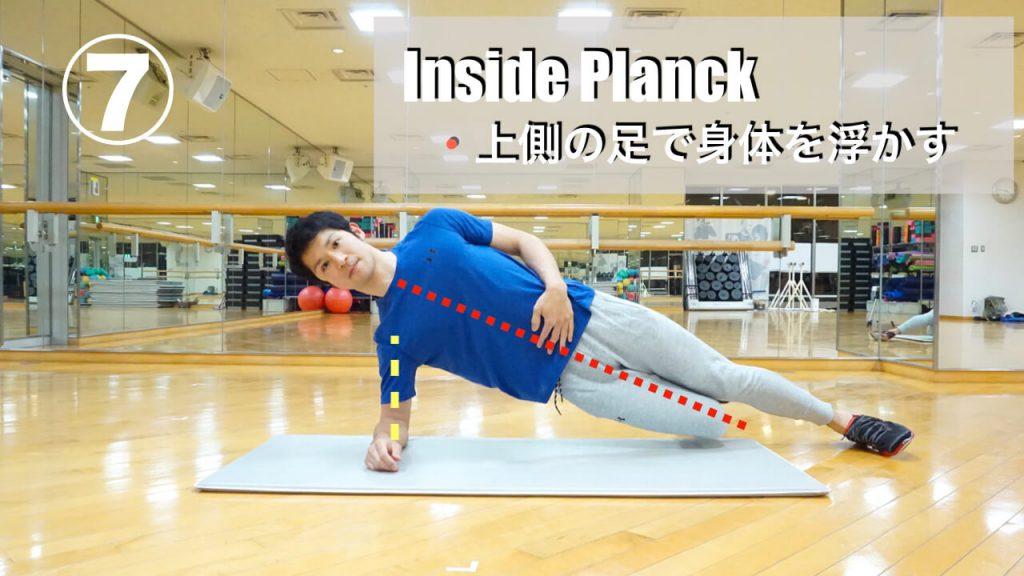 ゴルフ,体幹トレーニング,インサイドプランク