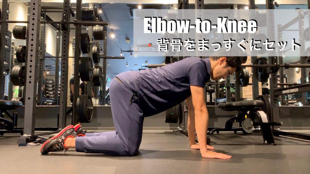 椎間板ヘルニアに負けない腰を作る4point-ダイアゴナルエルボーニー01