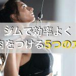 ジムトレーニングで効率よく筋肉をつける方法